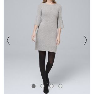 Bow- Back Sweater Knit Shift Dress